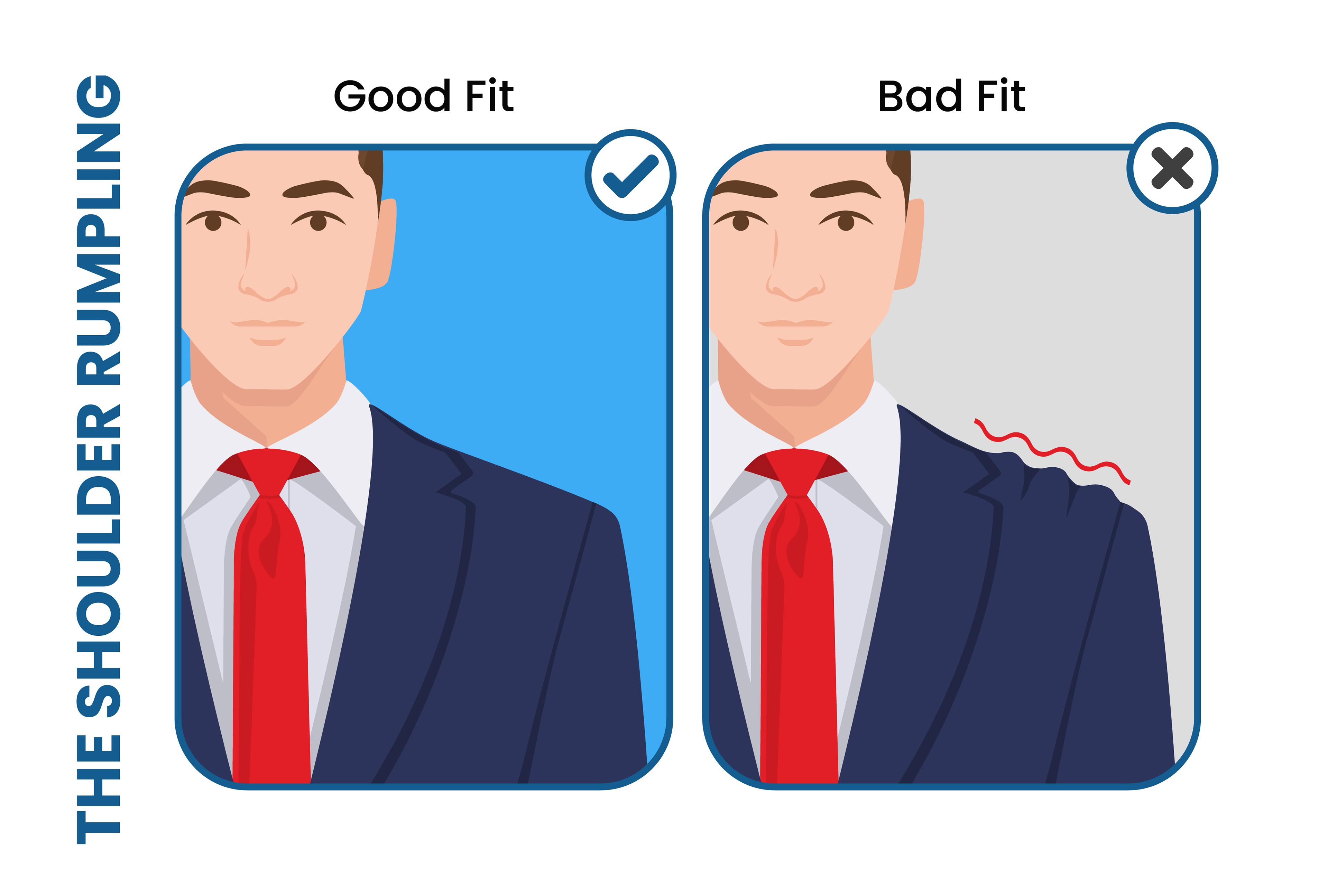 avoid the suit jacket's shoulder wrinkles