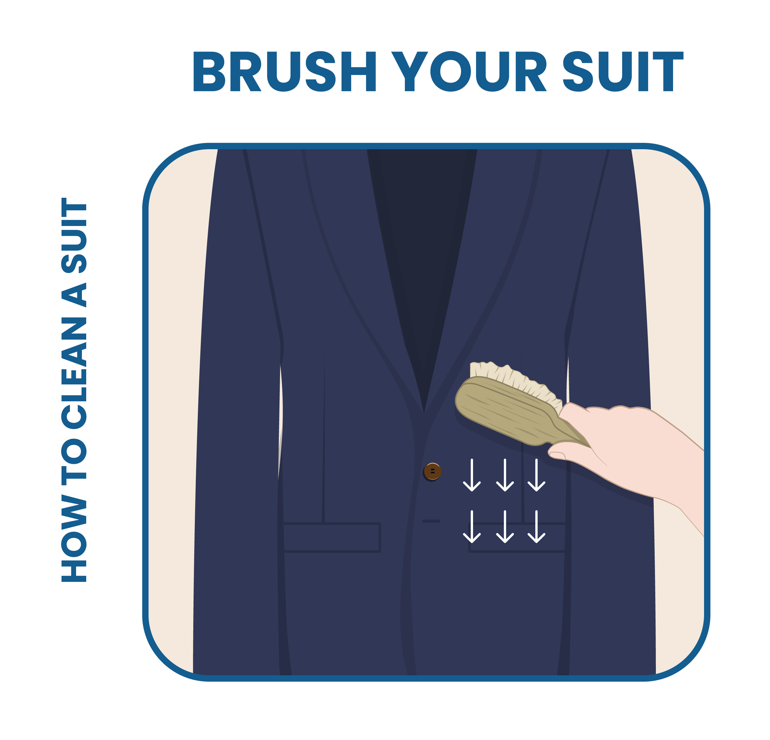 how to clean suit: use a suit brush