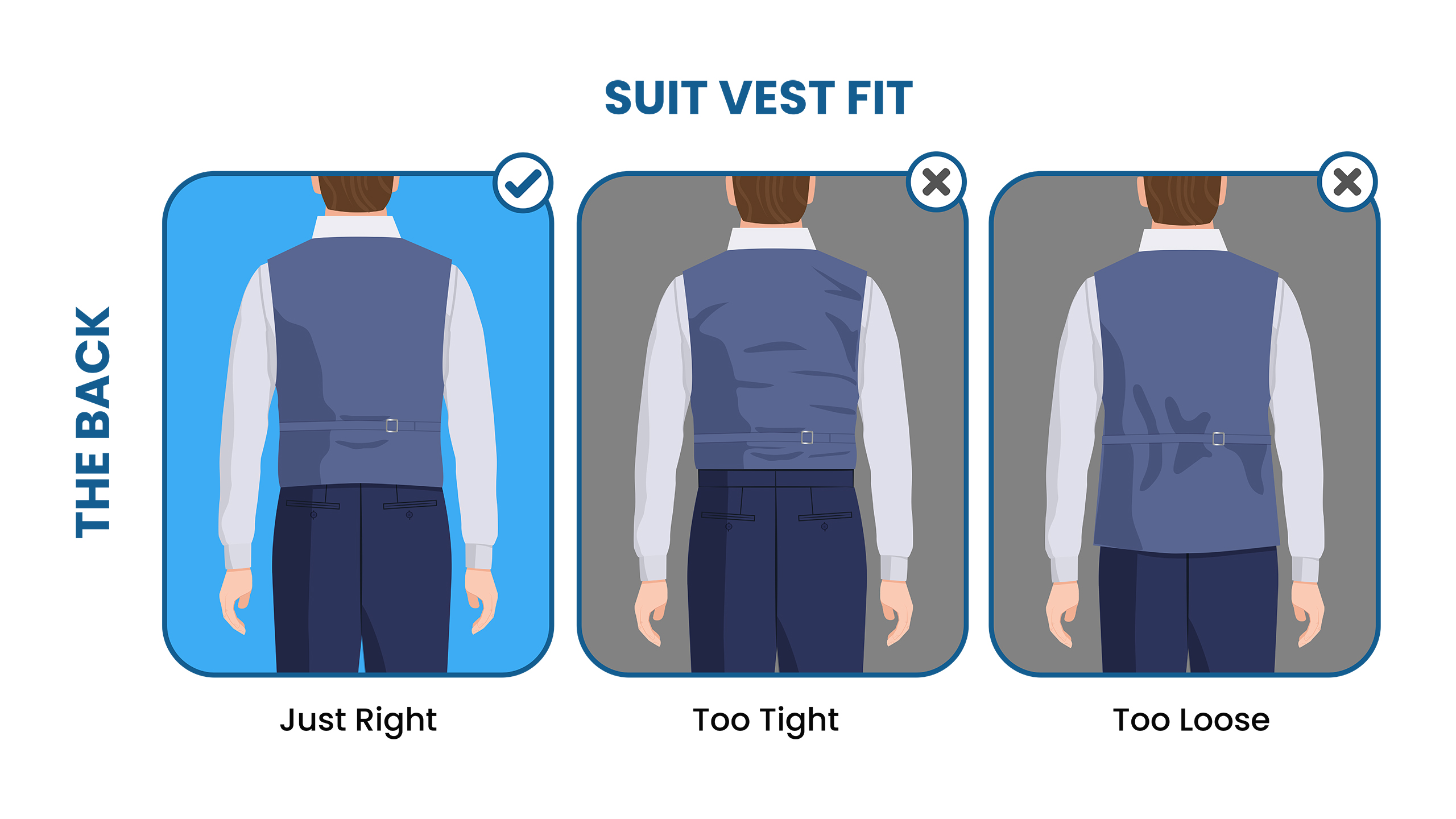 how to fit a suit vest: the back