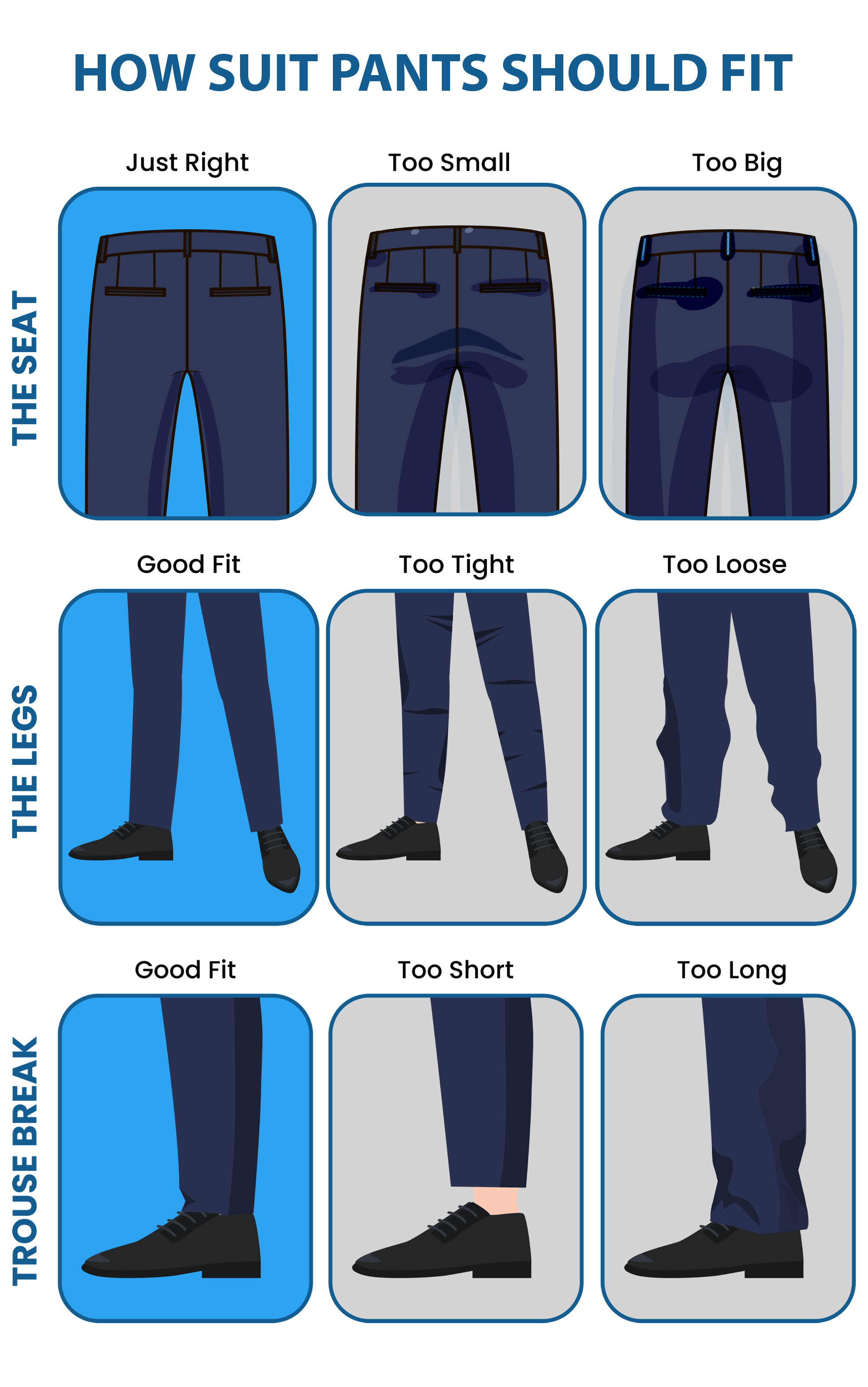 How to fit your suit pants