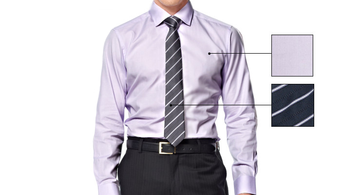 how to match solid shirt and patterned tie