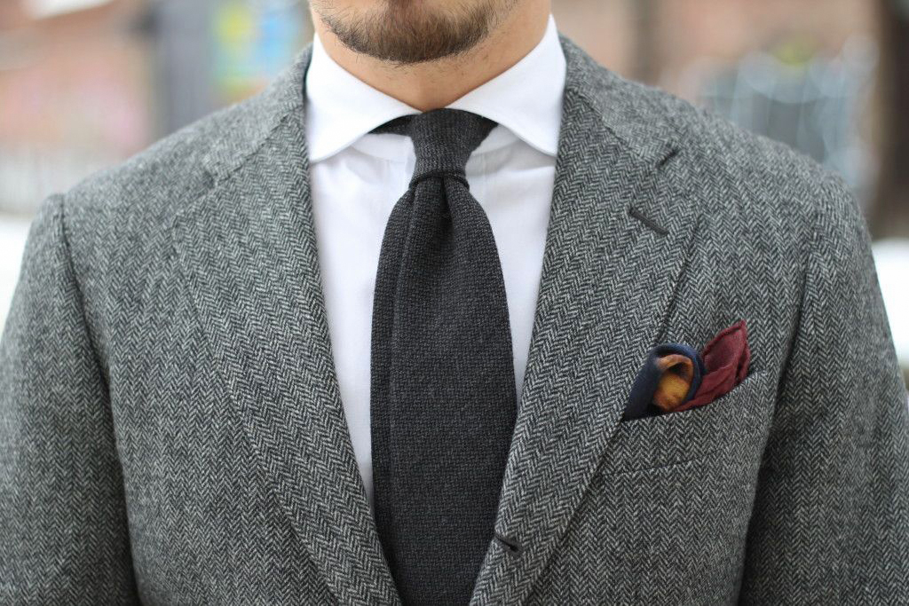 how to match a tie with a wool suit jacket