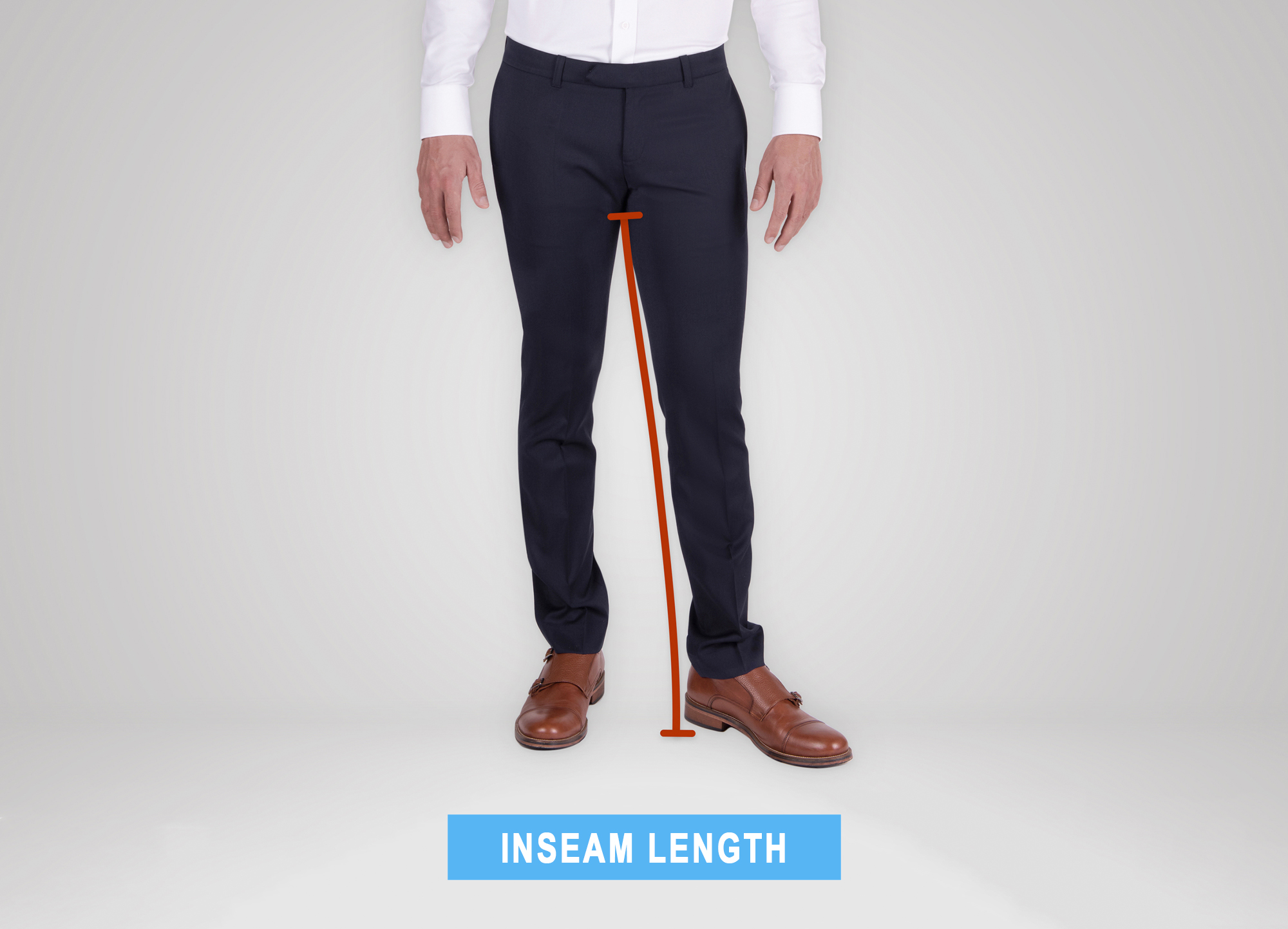 how to measure pants' inseam length