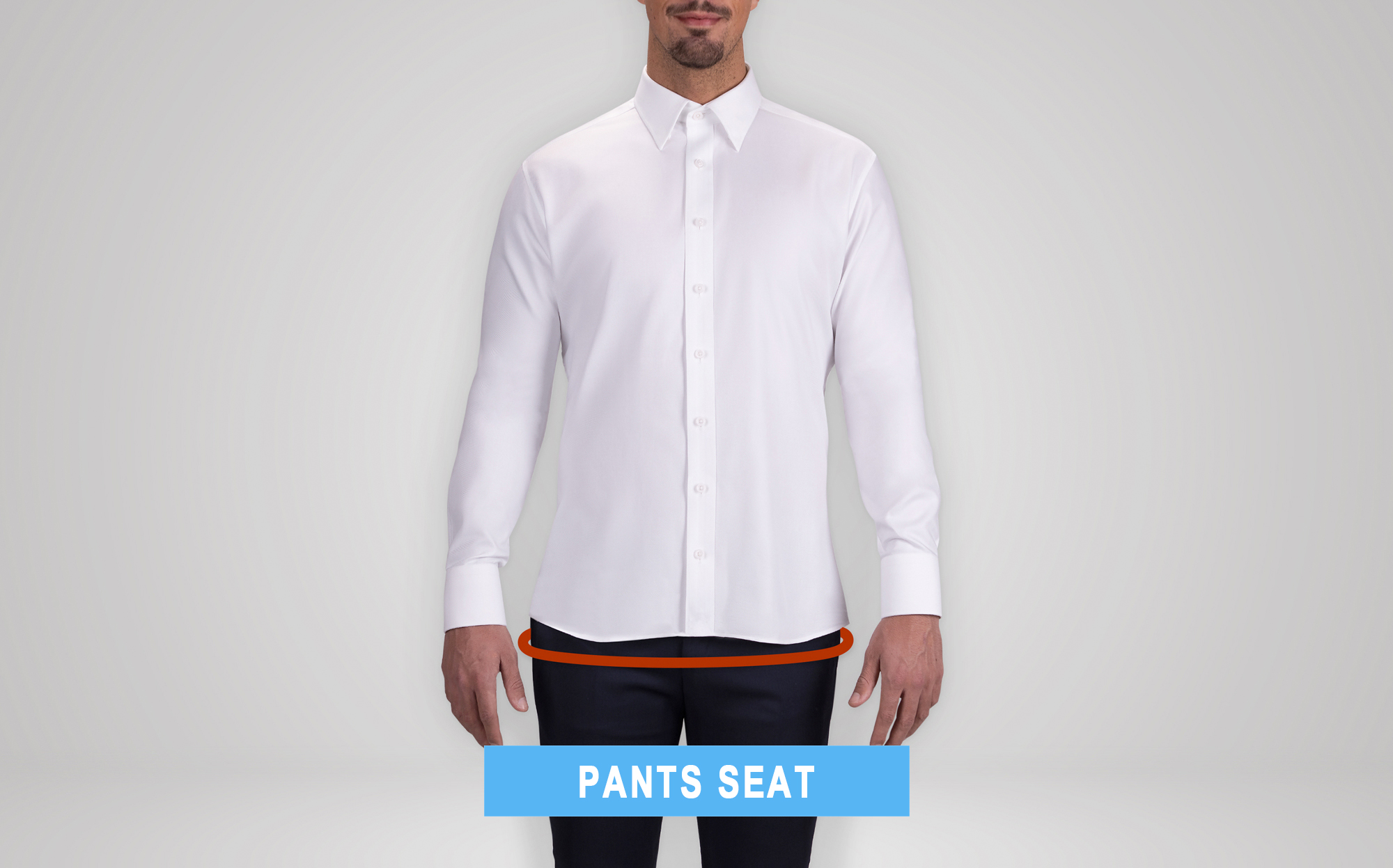 how to measure pants' seat