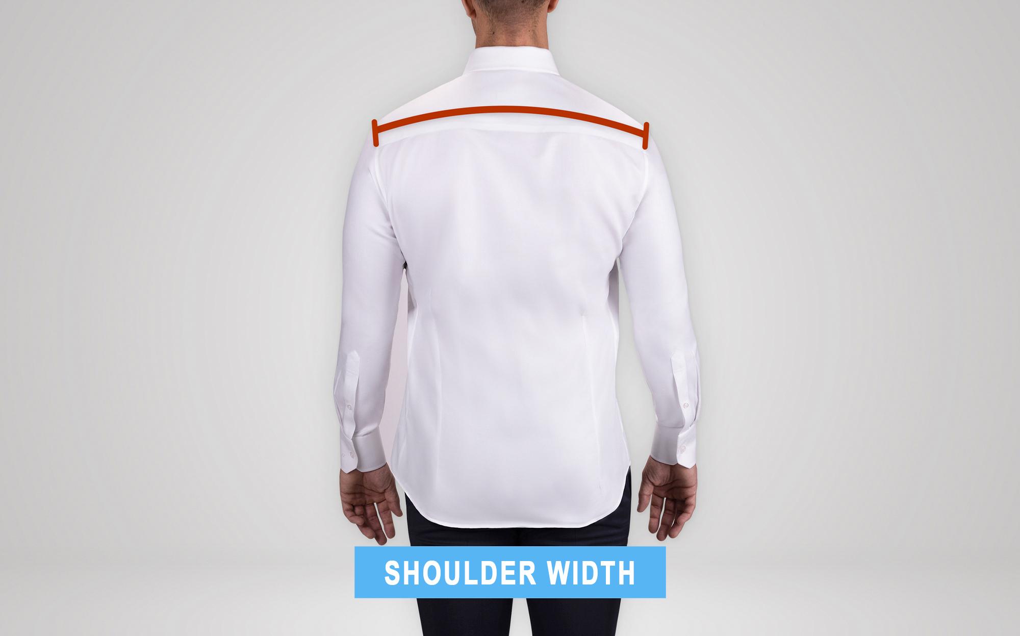 how to measure suit's shoulder width