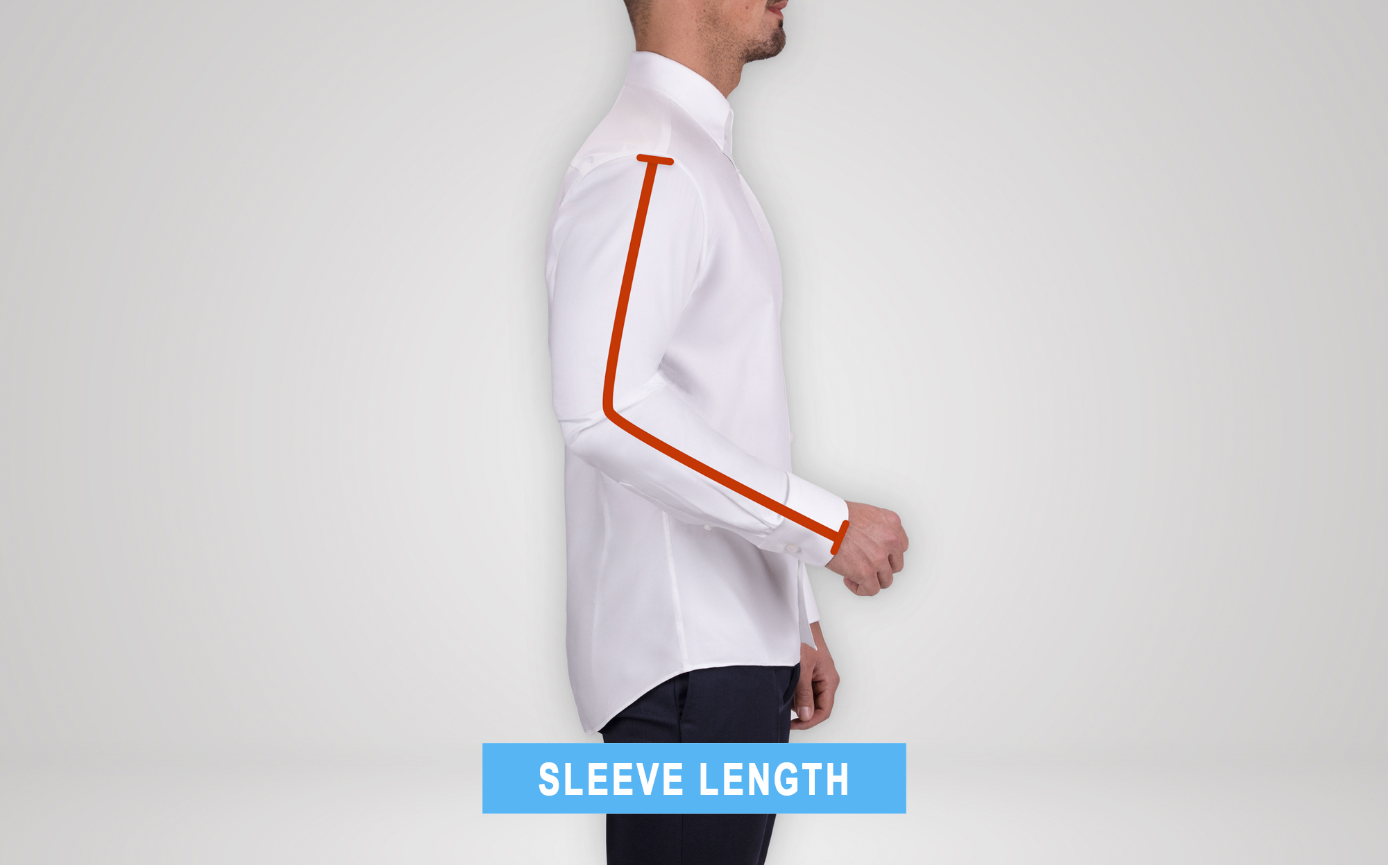 how to measure suit's jacket sleeve length