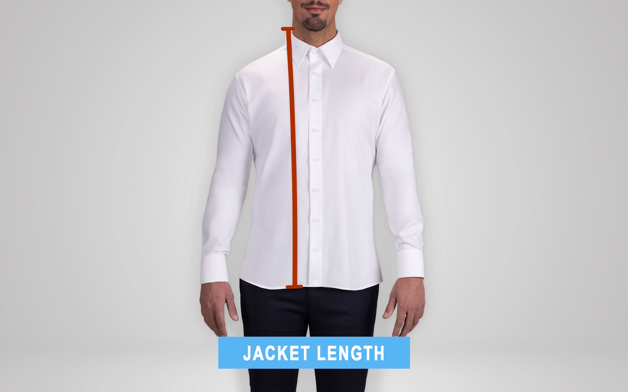 how to measure the suit's jacket length