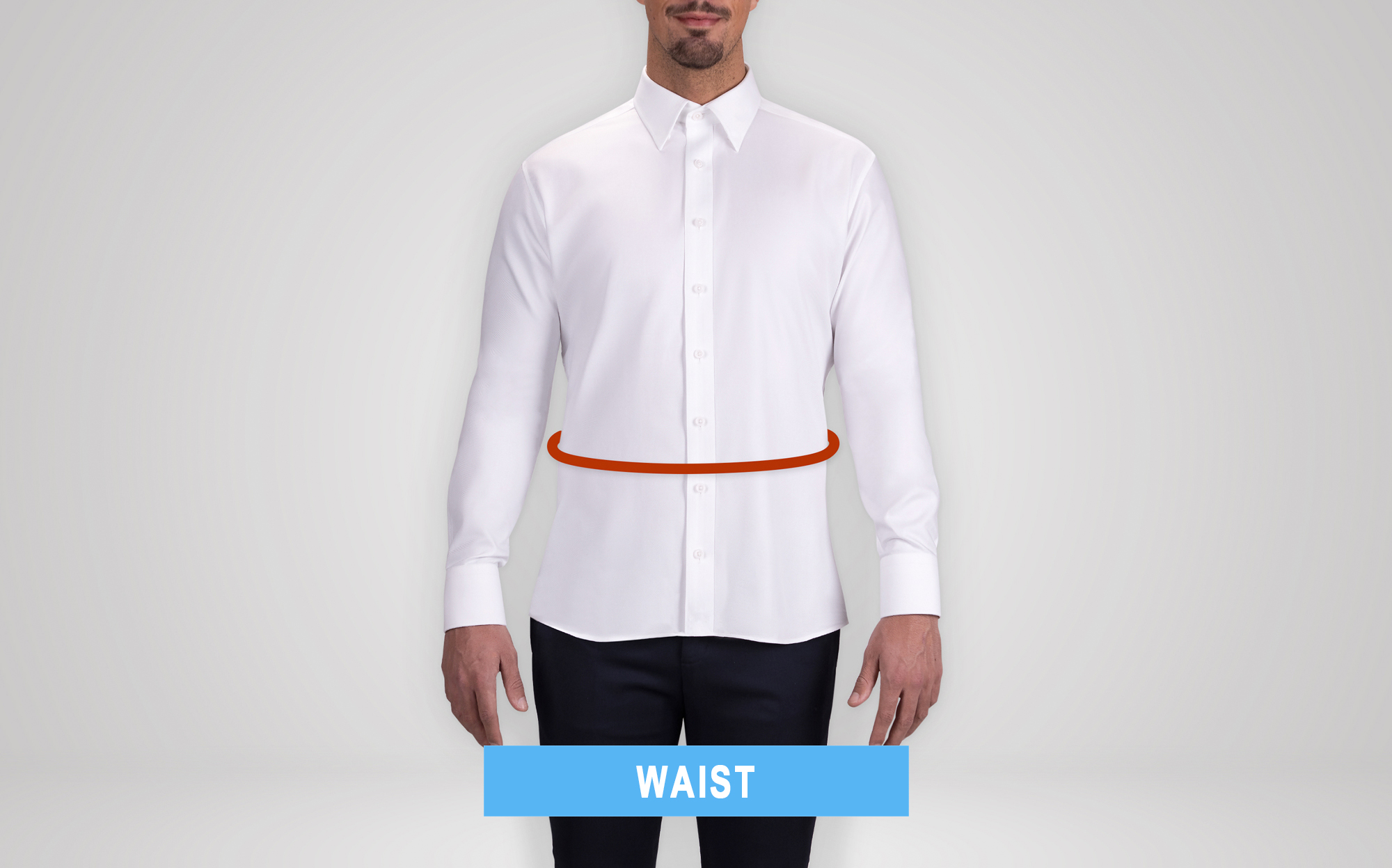 how to measure the jacket waist