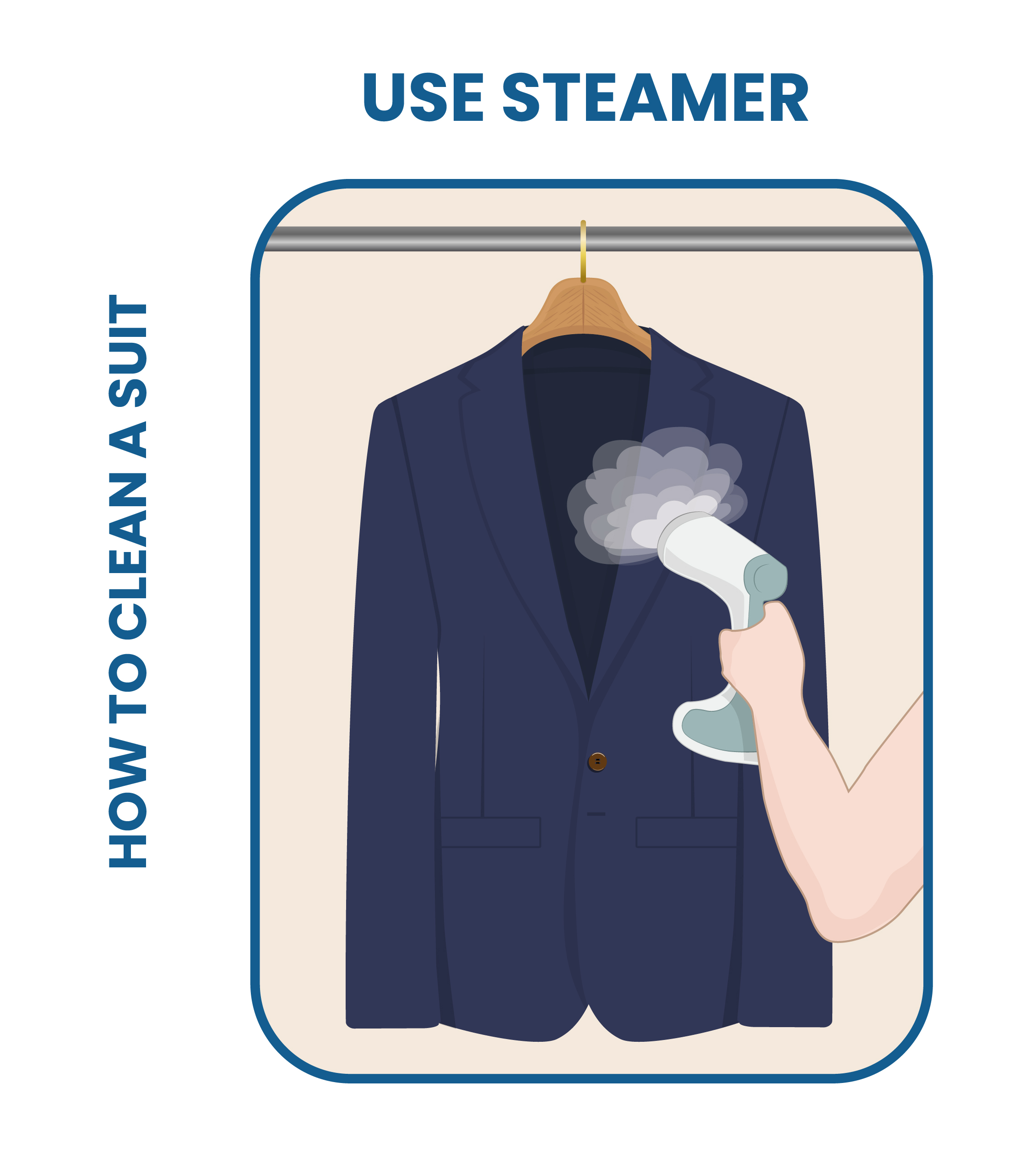 how to use steamer on suit jacket