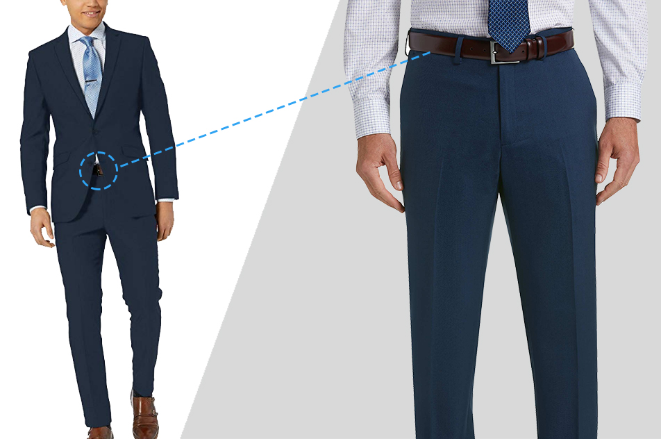 how to wear belt with suit