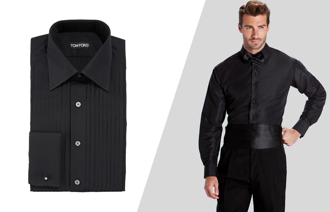 how to wear black tuxedo shirt