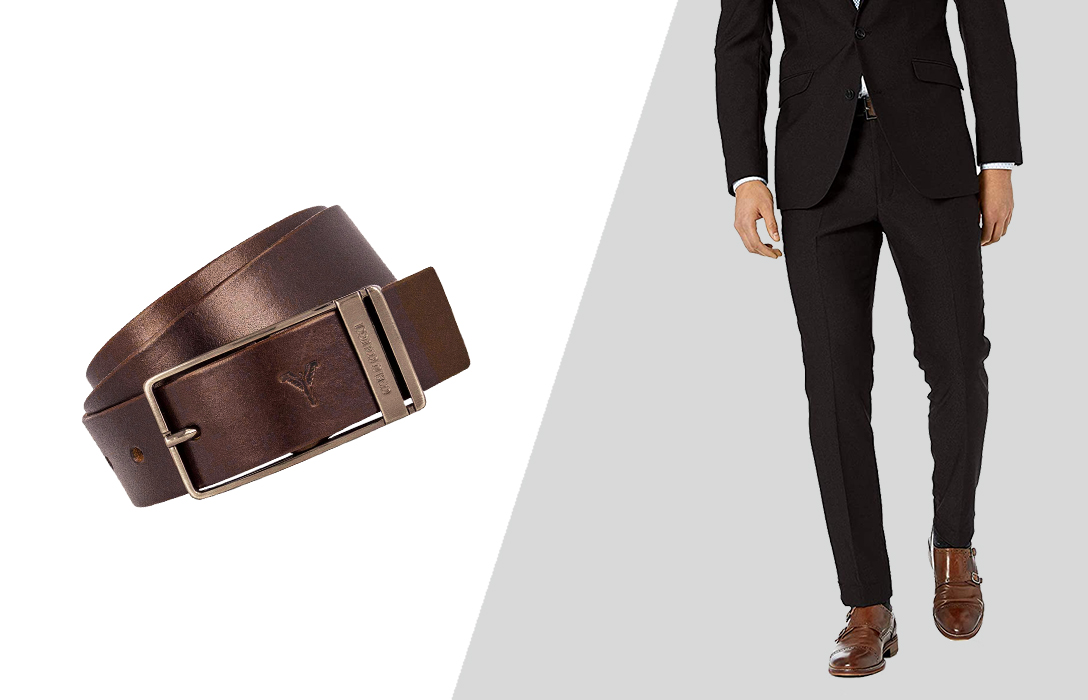 how to wear brown belt with brown shoes and black pants