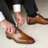how to wear brown dress shoes with black pants