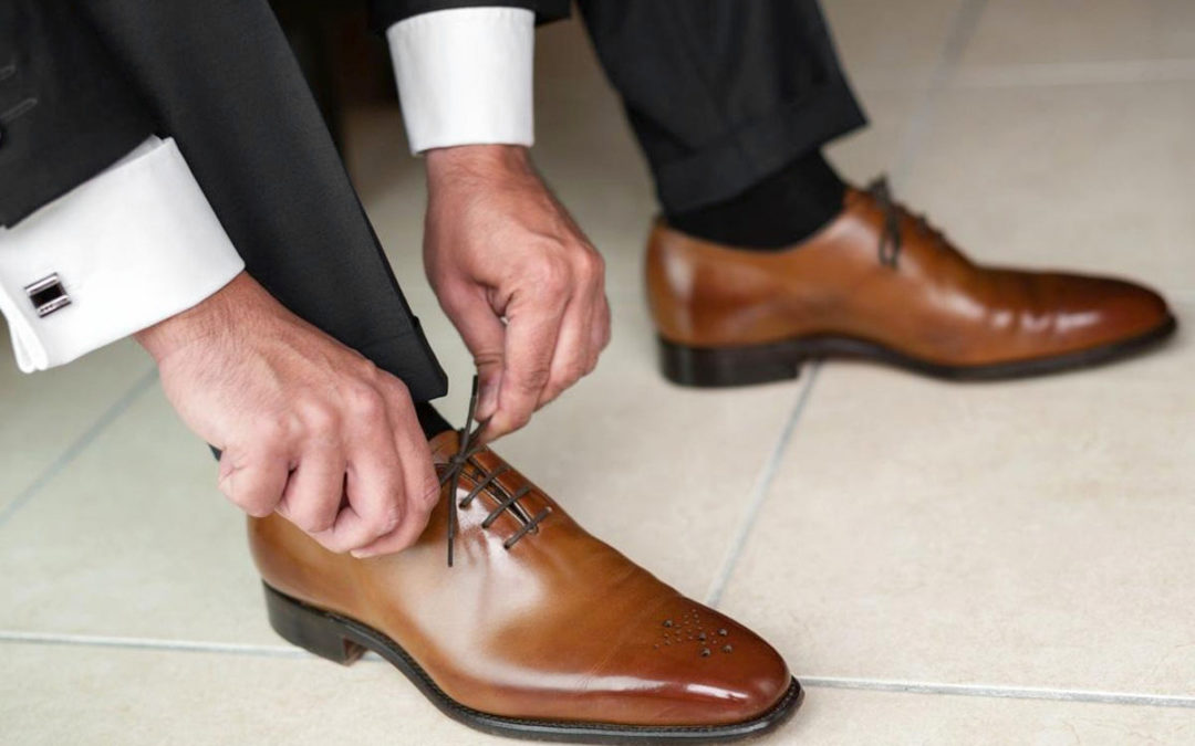 Matching Black Pants and Brown Dress Shoes