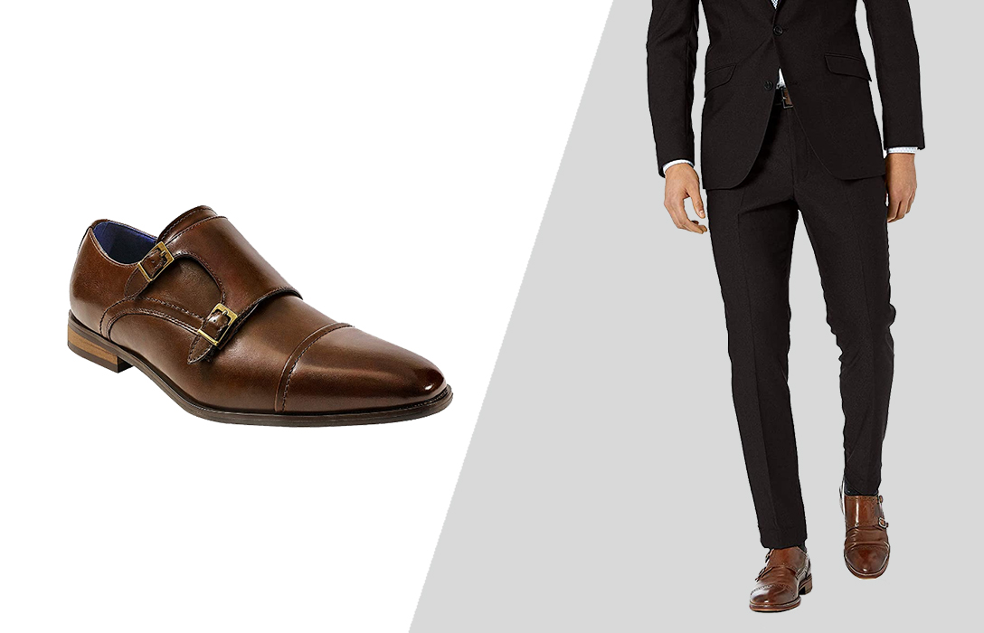how to wear brown dress shoes with black suit pants