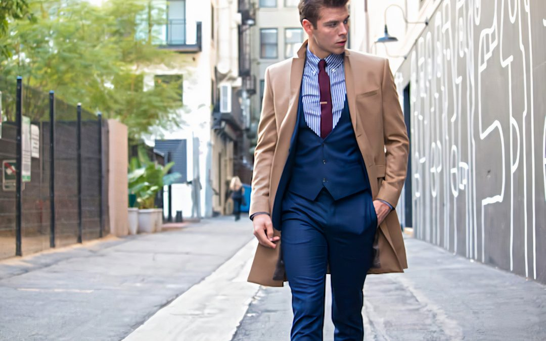 how to wear coat over and on top of suit