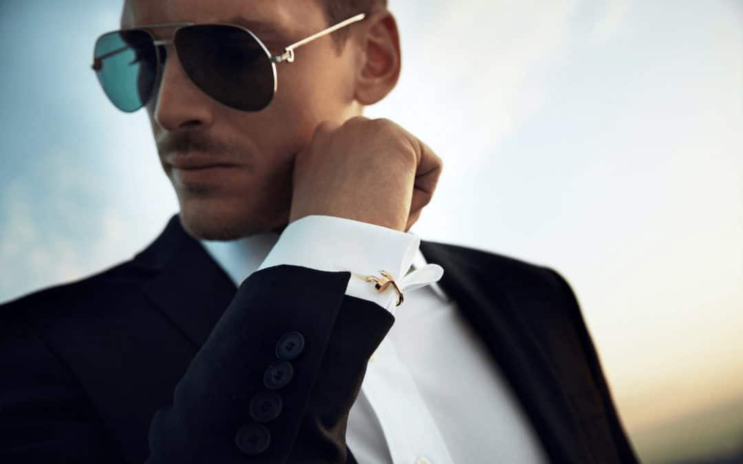 how to wear cufflinks with a shirt and a suit