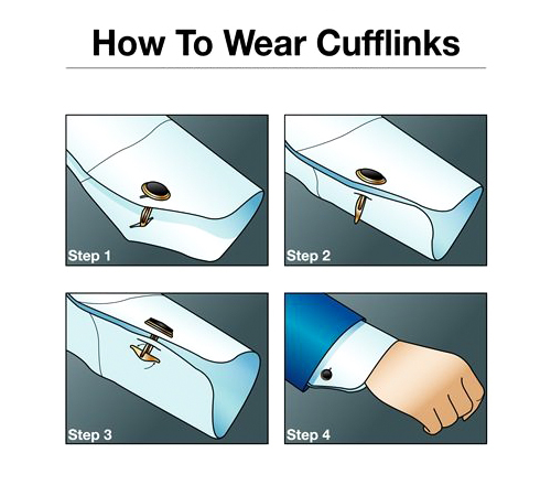 how to wear cufflinks with a tuxedo shirt