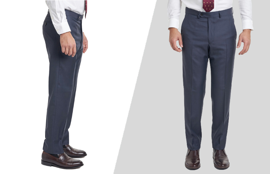 how should dress pants fit from the front