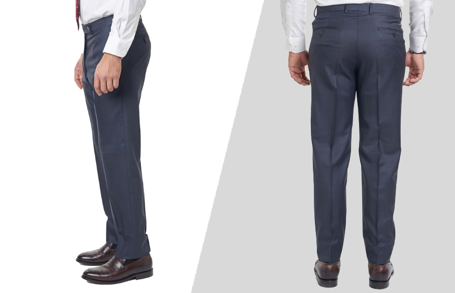 how to wear dress slacks: back side