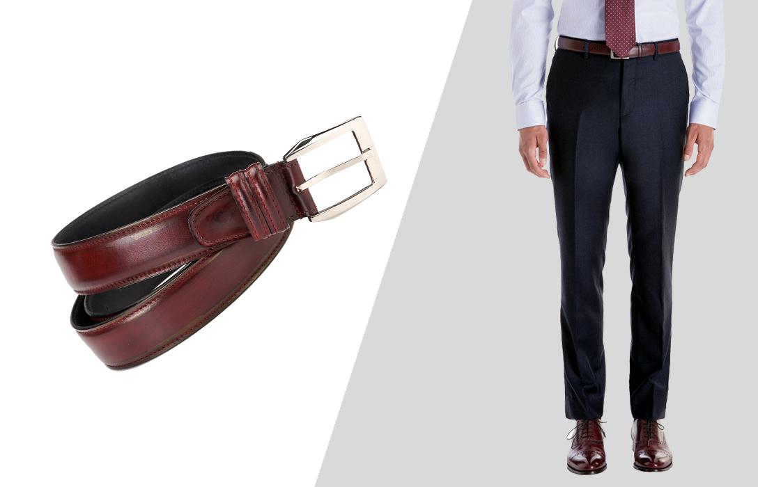 how to wear oxblood belts