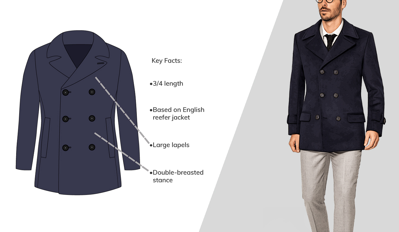 How to wear pea coat over suit