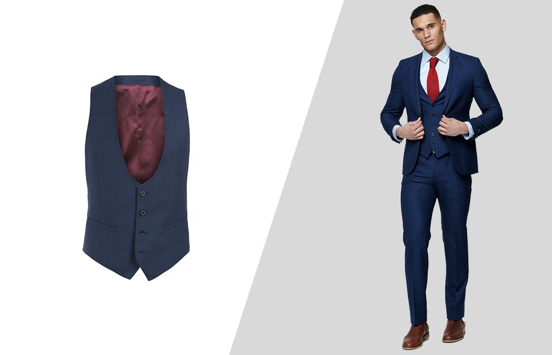 wearing suit vest as part of a three-piece suit