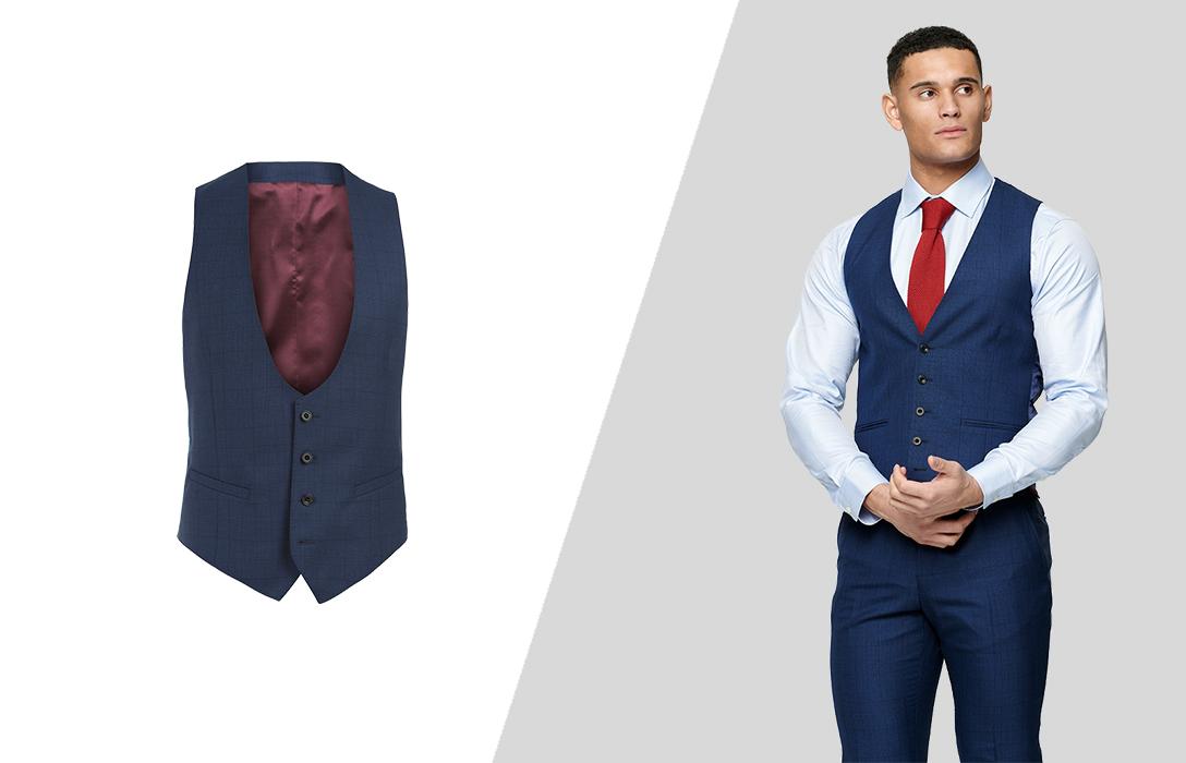 how to wear suit vest