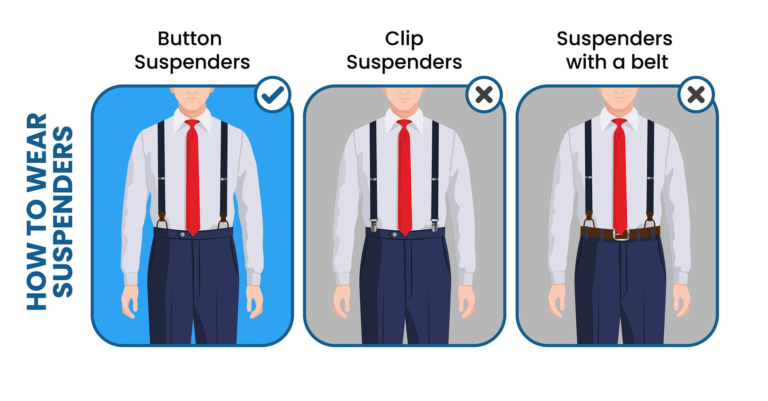 how to wear suspenders properly