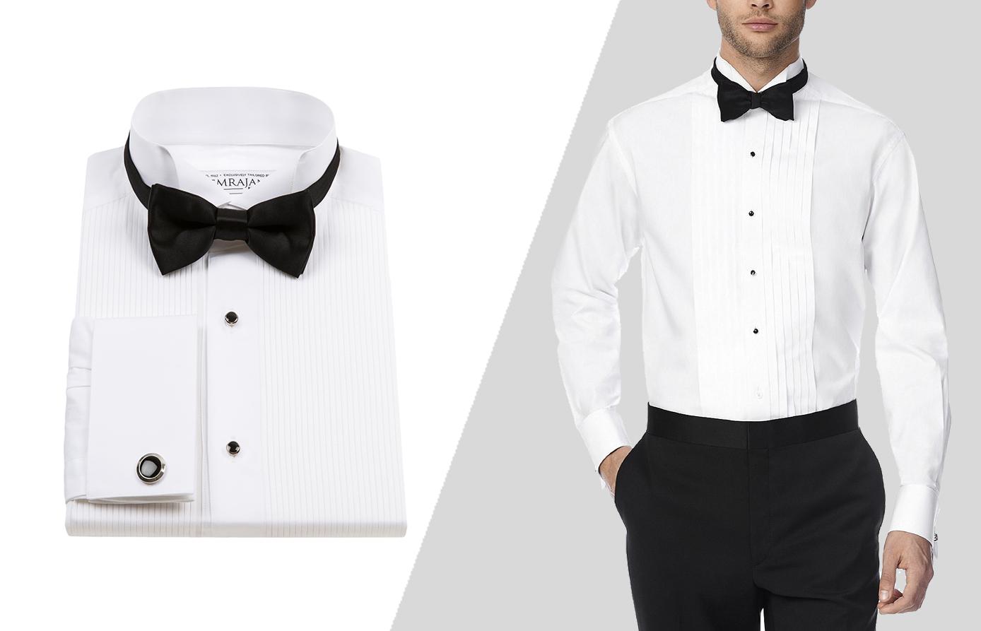 how to wear a tuxedo shirt