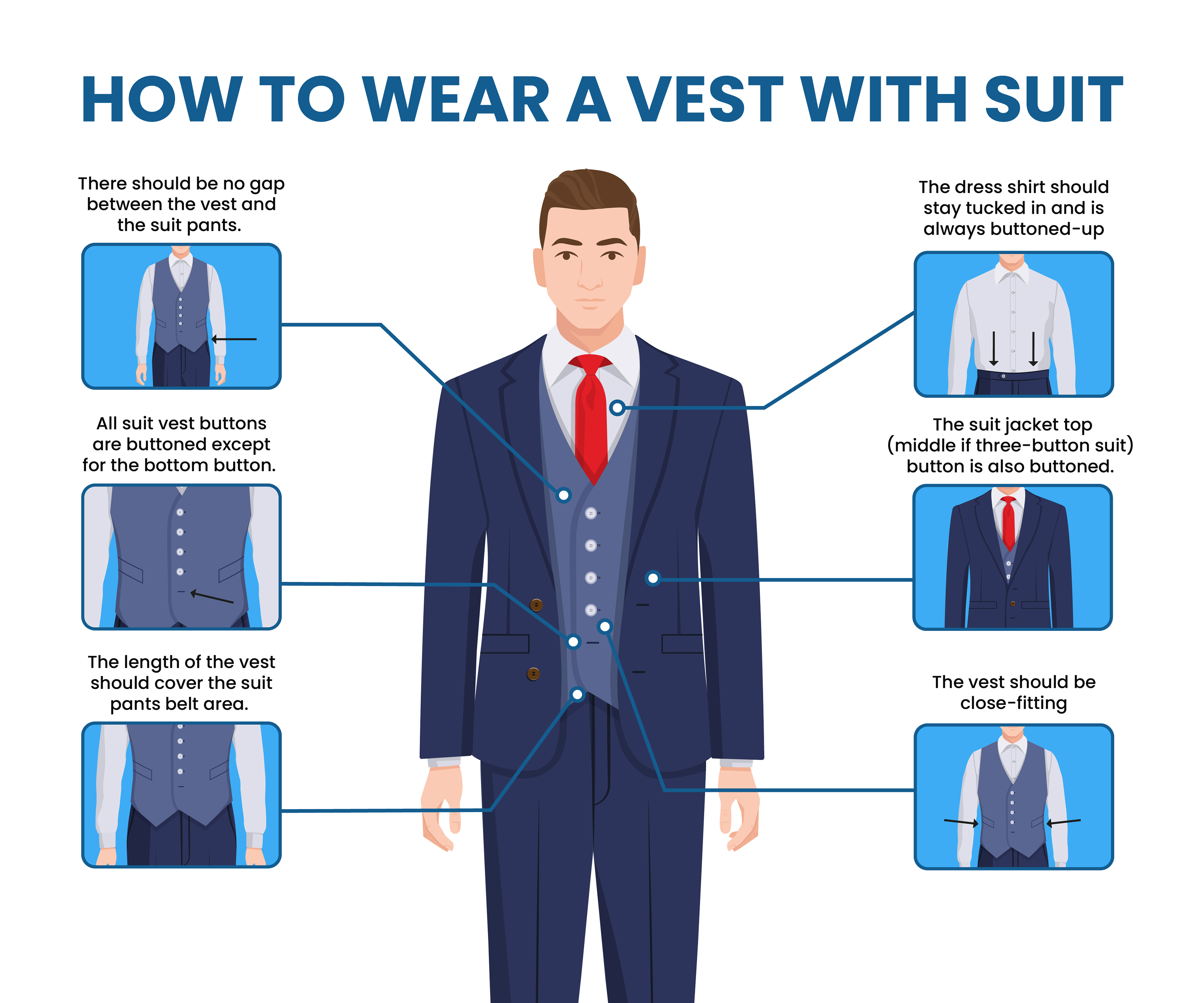 how to wear a vest with suit