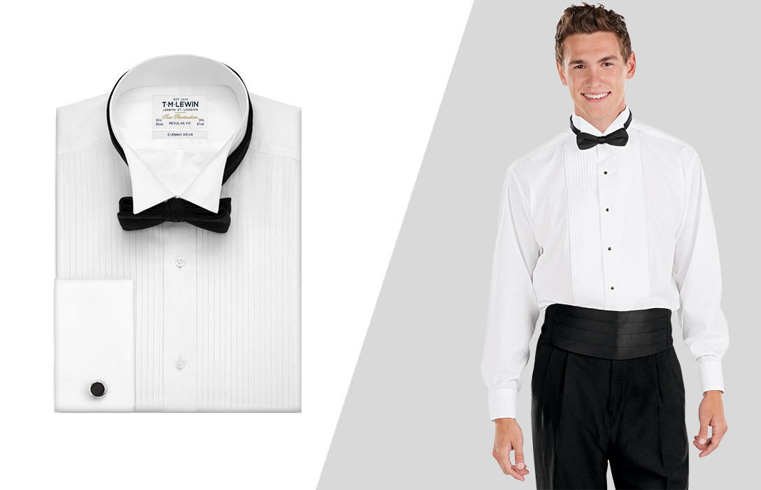 how to wear white tuxedo shirt