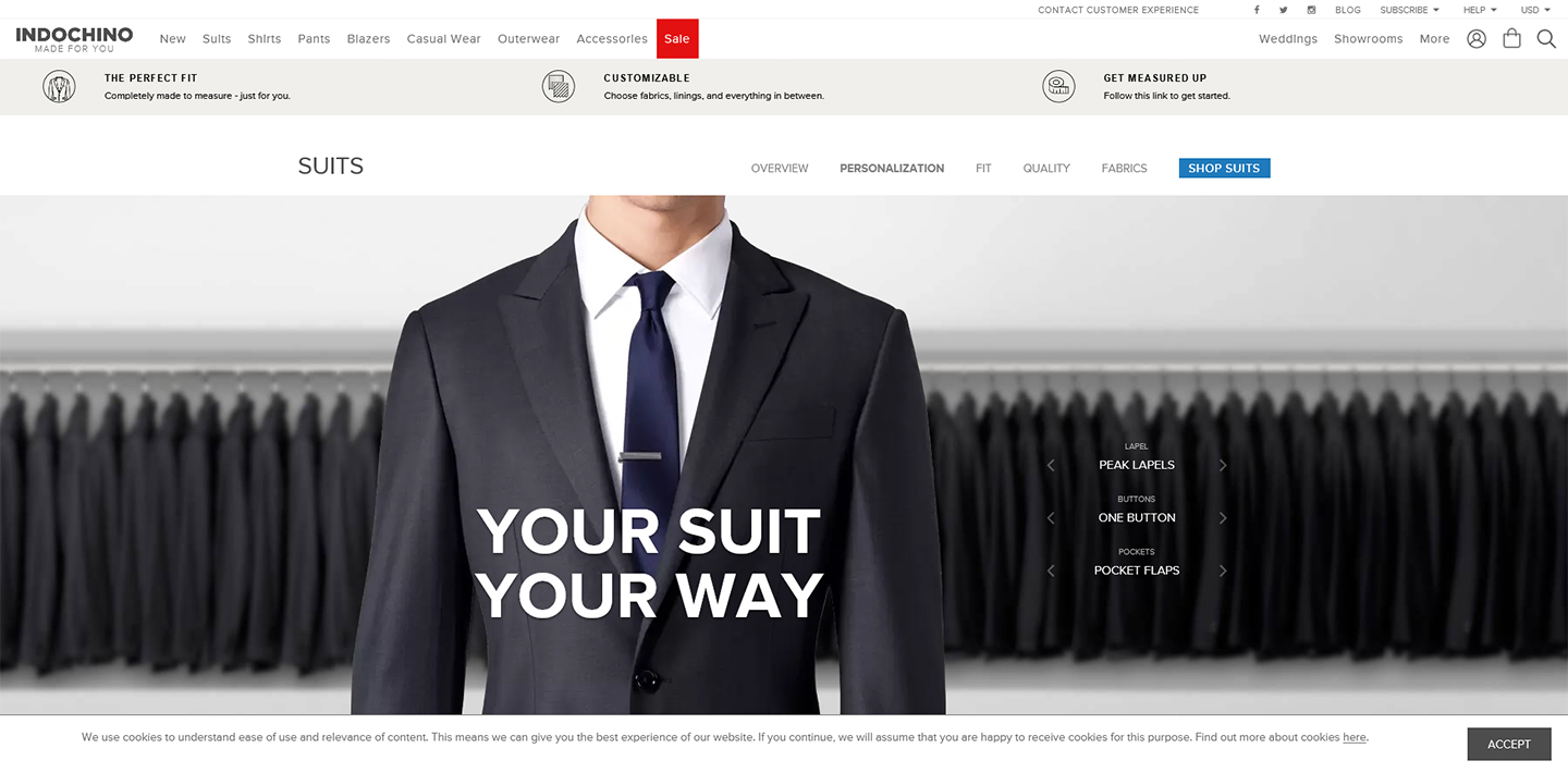 Indochino front page