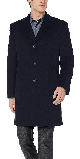 Navy topcoat by Kenneth Cole