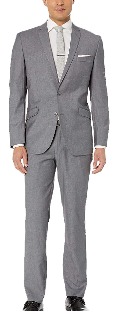 Slim fit light grey suit by Kenneth Cole Unlisted