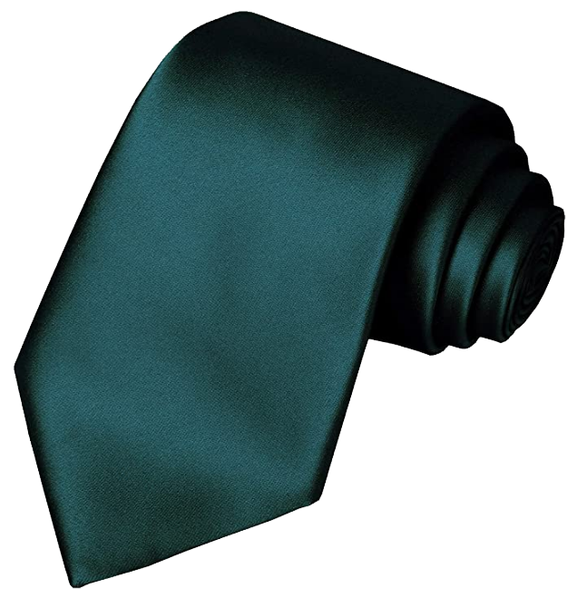 Solid dark green tie by KissTies