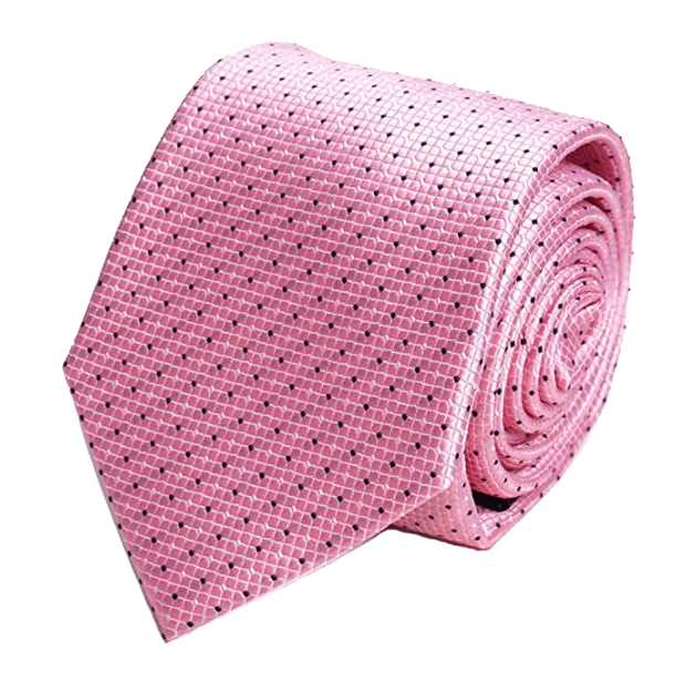 Pink dotted tie by Laurant Bennet