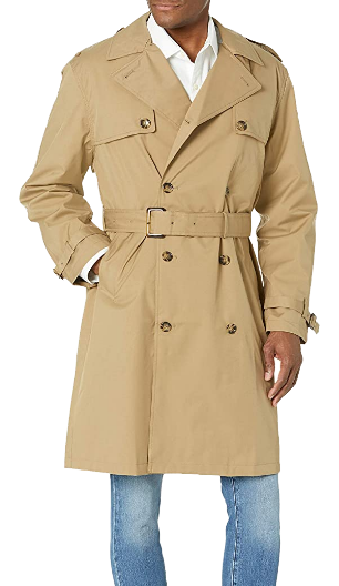 double-breasted khaki trench coat by London Fog