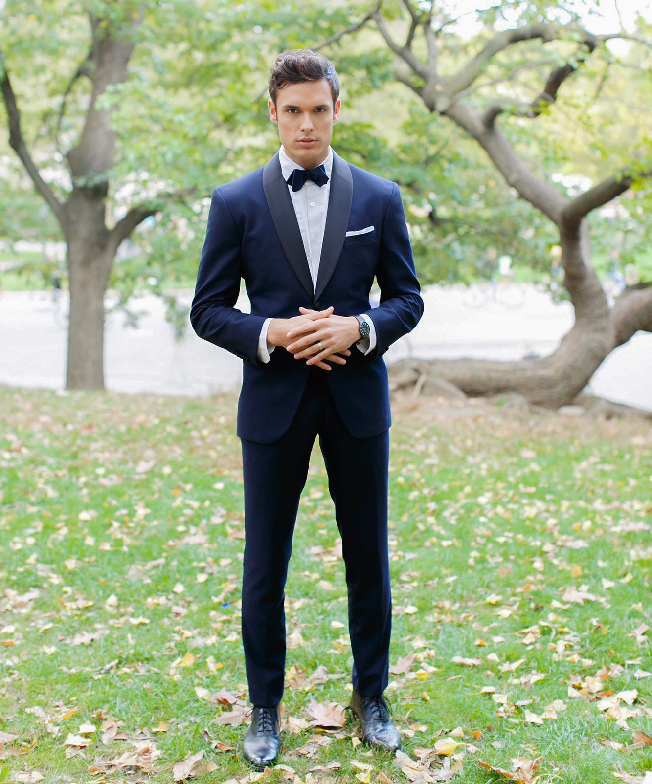 midnight blue wedding tuxedo