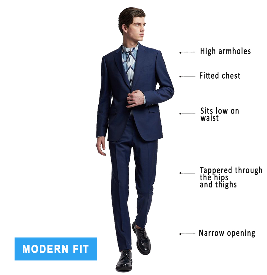 modern fit suits explained