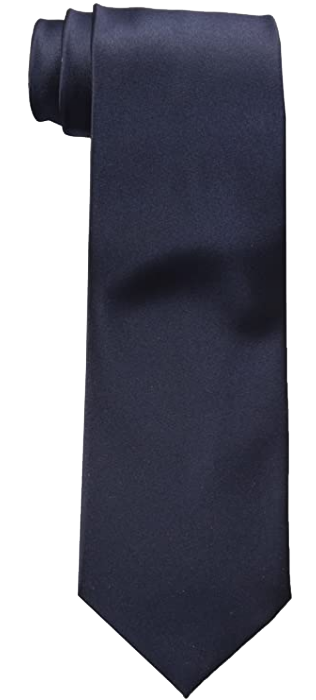 Solid navy tie by Nyfashion