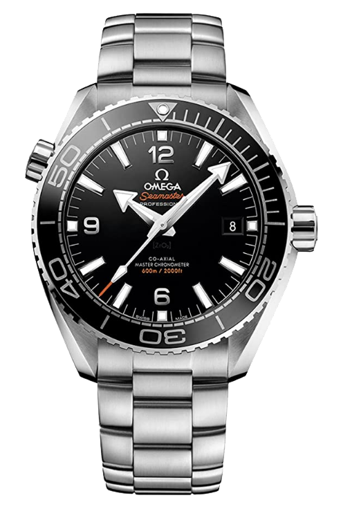 Omega Seamaster Planet Ocean diver with metal bracelet