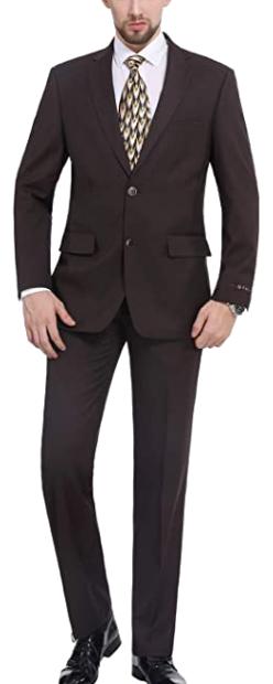 Classic fit brown suit by P&L