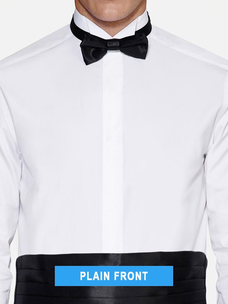 Plain tuxedo shirt front