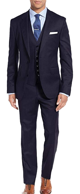 Classic-fit black suit made of wool by Calvin Klein