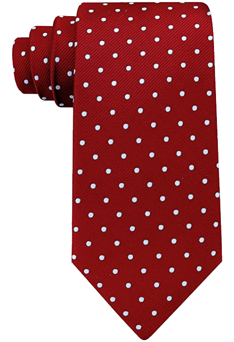 Burgundy tie polka with white dots by Scott Allen