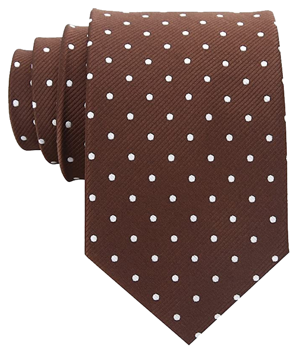Brown polka tie with white dots by Scott Allen