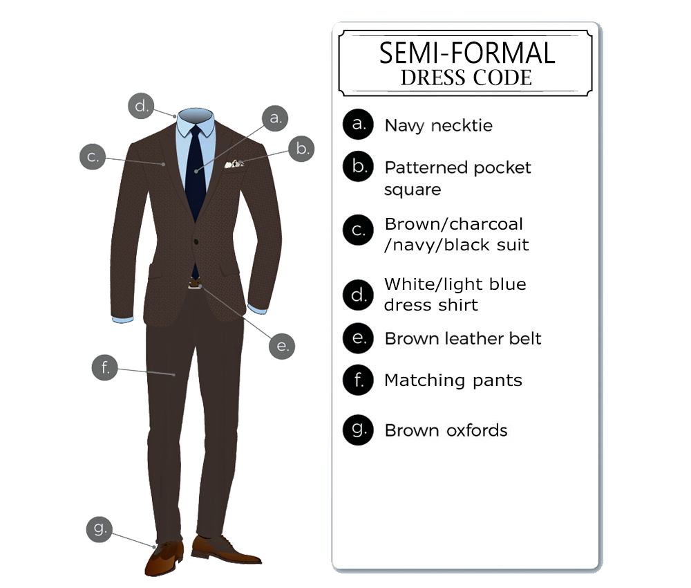 semi-formal dress code attire for men
