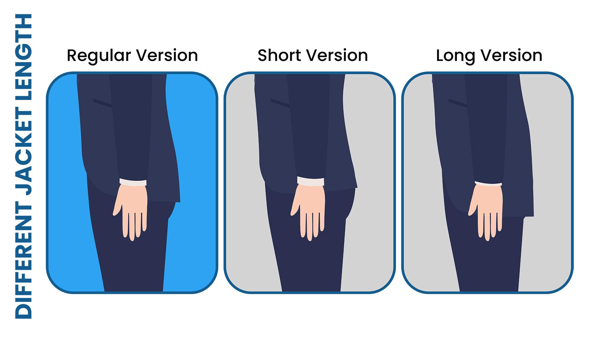 short vs. regular vs. long jacket length
