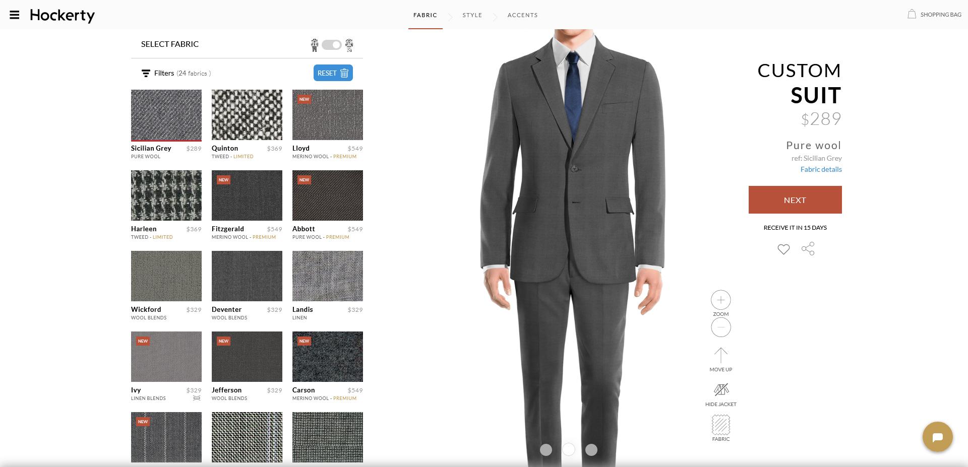 sicilian grey: medium-grey suit fabric